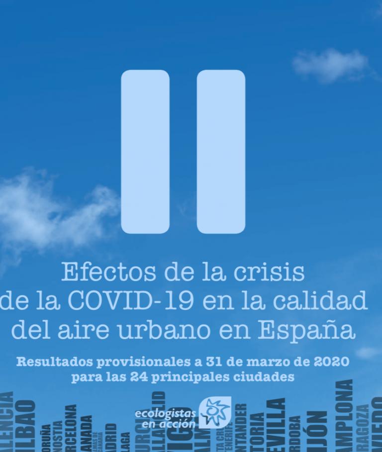 Efectos de la crisis de la COVID-19 en la calidad del aire urbano en España