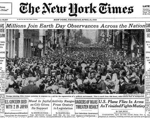 El día de la Tierra cumple medio siglo: balance de 50 años de triunfos y fracasos de la lucha ambiental